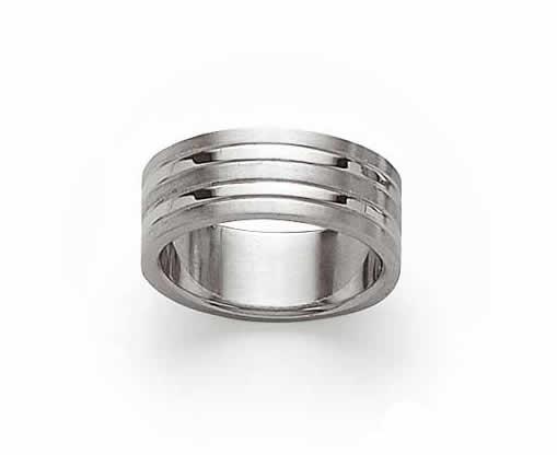 Buffalo, ring in glanzend edelstaal Amanto Sieraden-0