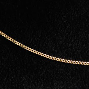 Gourmetketting, 1 mm breed, 45cm - verguld-0