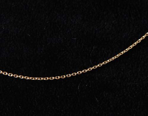 Montebello Ketting Anker - 925 Zilver Verguld - 1mm - 45cm-0