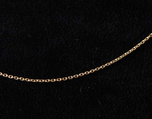 Montebello Ankerketting - Dames - 925 Zilver Verguld - 1 mm - 50 cm-0