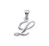 Letter L - hanger in zilver-0