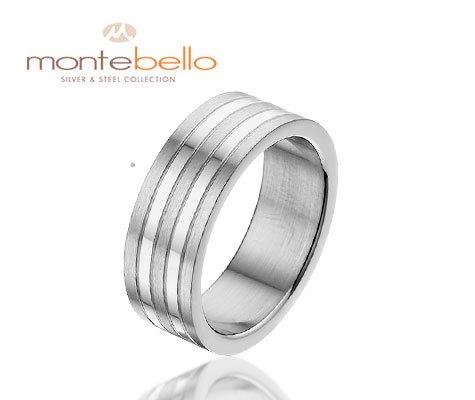 Buffalo, ring in glanzend edelstaal Amanto Sieraden-3512