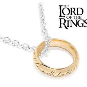 One Ring of Power met gouden tekens, aan ketting-0
