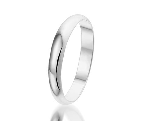Montebello Ring Wedding - Unisex - 925 Zilver - Trouw - 3 mm -0