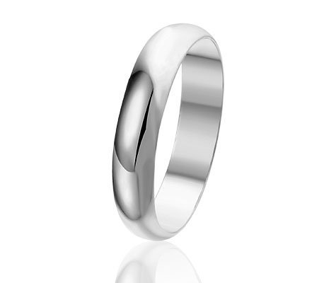 Mariage,Trouwring /Vrienschapsring in Sterling Zilver, 4mm-0