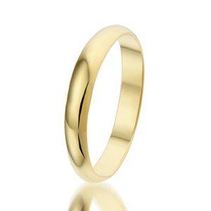 Montebello Ring Huwelijk - Unisex - 925 Zilver Verguld - Trouw - 3 mm -0