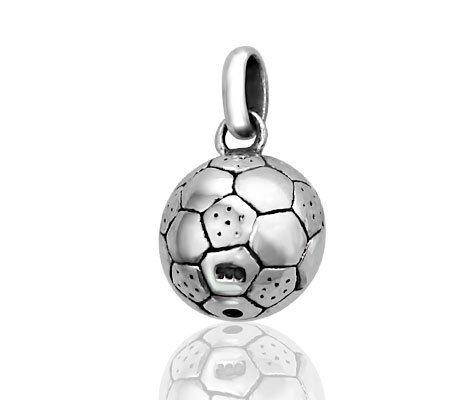 Voetbal - hangertje in zilver-0