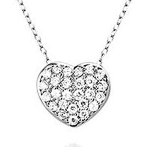 Montebello Ketting Heart - Dames - Zilver Gerh - Zirkonia - Hart - 11x13mm - 45cm-0
