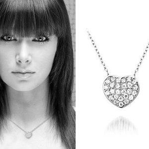 Montebello Ketting Heart - Dames - Zilver Gerh - Zirkonia - Hart - 11x13mm - 45cm-5738