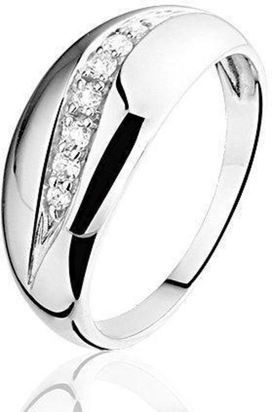 Montebello Ring Baukje - Dames - Zilver Gerhodineerd - Zirkonia -0