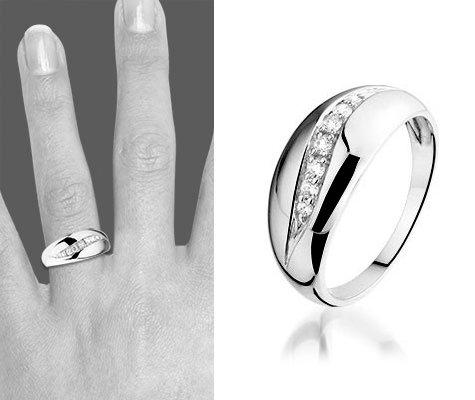 Montebello Ring Baukje - Dames - Zilver Gerhodineerd - Zirkonia -6174