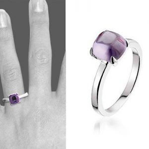 Montebello Ring Purple Accent Dames - Zilver Gerhodineerd - Zirkonia -6618