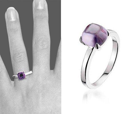 Montebello Ring Purple Accent Dames - Zilver Gerhodineerd - Zirkonia -6618