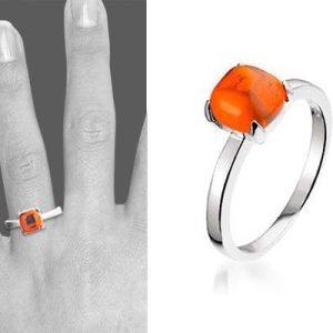 Montebello Ring Red Accent - Dames - Zilver Gerhodineerd - Zirkonia-6620