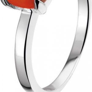 Montebello Ring Red Accent - Dames - Zilver Gerhodineerd - Zirkonia-0