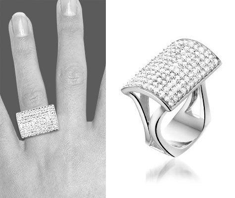 Montebello Ring Salma - Dames - Zilver Gerhodineerd - 30 mm -0