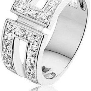 Montebello Ring Jera - Dames - Zilver Gerhodineerd - Zirkonia-0