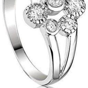 Montebello Ring Blair - Dames - Gerhodineerd Zilver - Zirkonia - 12 mm-0
