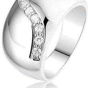 Montebello Ring Martine - Dames - Zilver Gerhodineerd - Zirkonia -0