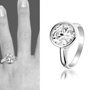 Montebello Ring Lene - Dames - Zilver Gerhodineerd - ∅10 mm-6306