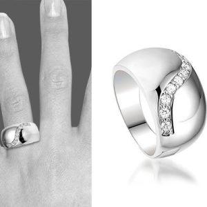 Montebello Ring Martine - Dames - Zilver Gerhodineerd - Zirkonia -6318