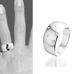 Montebello Ring Pim - Dames - Zilver Gerhodineerd - Zirkonia - 9 mm-0