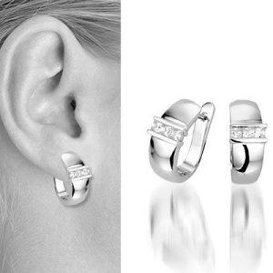 Zilveren oorbellen Prue - Montebello juwelen-0
