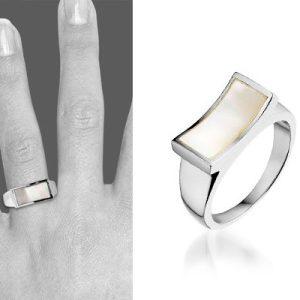 Montebello Ring Tinne - Dames - Zilver Gerhodineerd - Parelmoer-6389