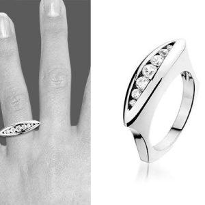 Montebello Ring Astrid - Dames - Zilver Gerhodineerd - Zirkonia - 6 mm-0