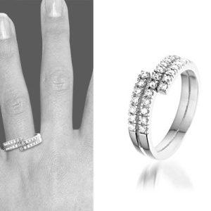 Aurore Zilveren ring met zirkonia - montebello sieraden-0