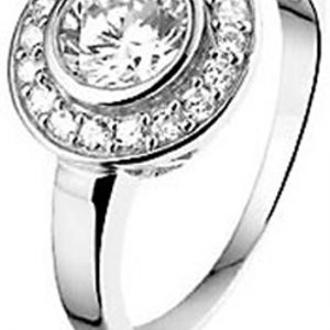 Montebello Ring Jupiter - Dames - Zilver Gerhodineerd - Zirkonia - 13 mm-0