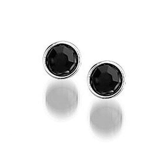 Montebello Oorbellen Chili - 925 Zilver - Zwart - ∅6mm-0