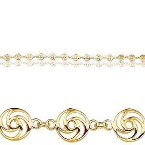 Montebello Armband Hanoi - Dames - 925 Zilver Verguld - 7mm - 18cm-0