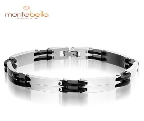 Montebello Armband Lima - Heren - 316L Staal - Rubber - 8mm - 21cm-0