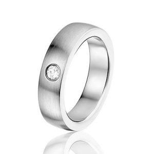 Nassau edelstalen ring - montebello sieraden-0