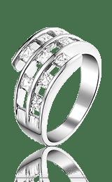 Boechout zilveren ring met zirkonia - Amanto Juwelen -0
