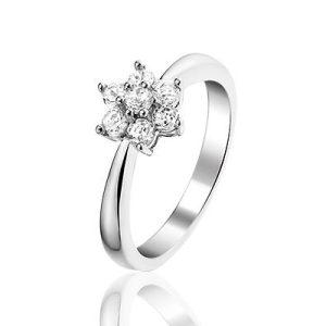 Fleurine zilveren ring met zirkonia - Amanto Juwelen -0