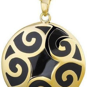 Montebello Collier Suva - Dames - 925 Zilver - Resin - Rond - Ø30 mm - 45 cm-0