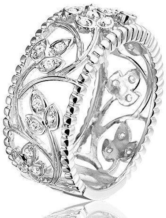 Montebello Ring Silver Flowers - Dames - Zilver Gerhodineerd - Bloem-0