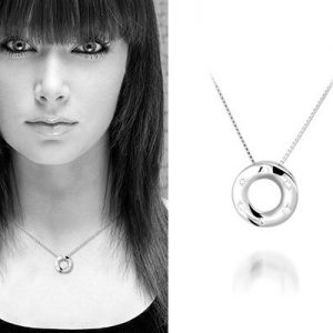 Donut zilveren ketting - Montebello juwelen-0