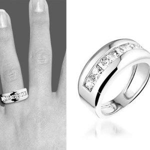 Montebello Ring Diane - Dames - Zilver Gerhodineerd - Zirkonia-0
