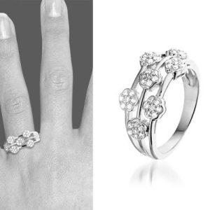 Fleur zilveren ring - montebello sieraden-0