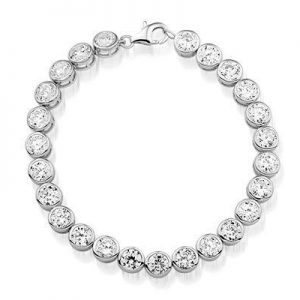 Montebello Armband Janina - Dames - Zilver Gerh. - Zirkonia - ∅7mm - 19cm-0