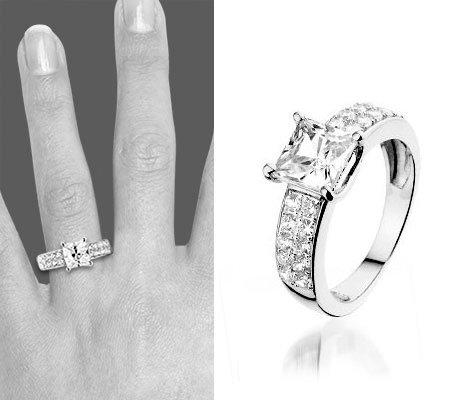 Montebello Ring Markiezette - Dames - Zilver Gerhodineerd - Zirkonia-6316