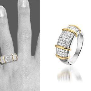 Merel zilveren ring - montebello sieraden-0