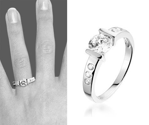 Shiny Lady zilveren ring - montebello sieraden-0