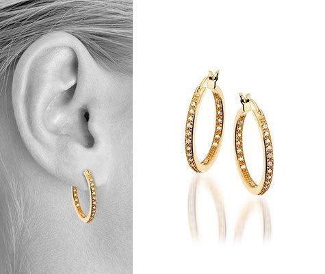 Thalia I Zilveren plaqué oorbellen - Montebello juwelen-0