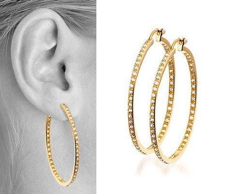 Thalia III Zilveren plaqué oorbellen - Montebello juwelen-0