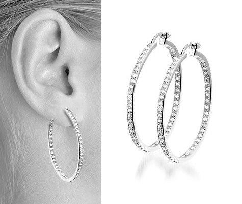 Thalia I Zilveren oorbellen - Montebello juwelen-0