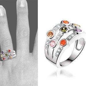 Fancy Colors zilveren ring - montebello sieraden-6241